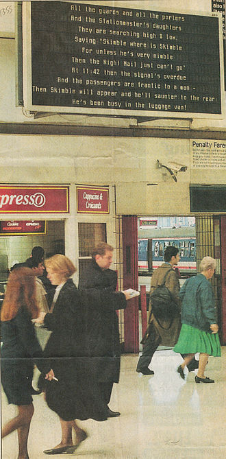 National Poetry Day - Poetry at Waterloo Station for National Poetry Day 1994