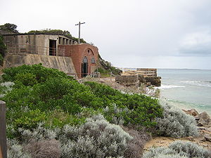 Point Nepean - Engine House ruins on Point Nepean