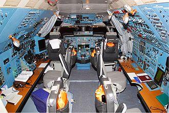 Antonov An-124 Ruslan - Polet Airlines An-124 cockpit