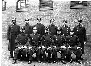 Norwegian Police Service - Norwegian police constables in 1908