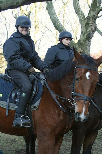International Association of Women Police - Mounted policewomen in Poland.