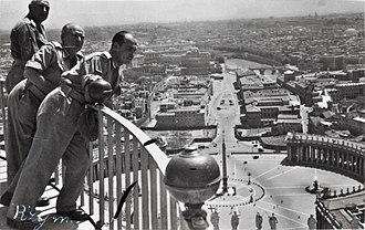 Via della Conciliazione - The view down Via della Conciliazione from Saint Peter's Basilica in 1946.