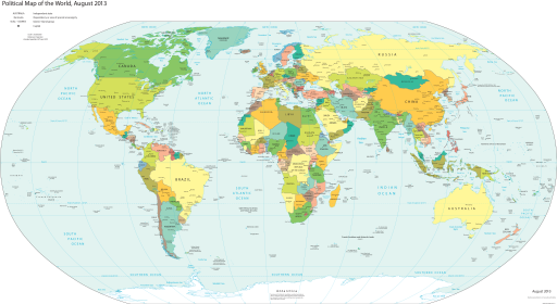 Political Map of the World (august 2013)