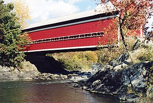Brigham, Quebec - Balthazar Covered Bridge in Brigham.