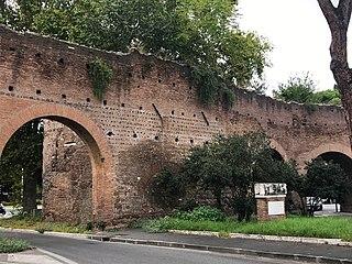 Porta Metronia gate in the third-century Aurelian Walls of Rome