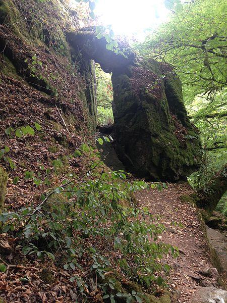 Porte du diable aux cascades de Murel, en Corrèze