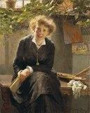 Porträtt av målarinnan Jeanna Bauck (Bertha Wegmann) - Nationalmuseum - 19883.tif
