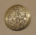Portrait of Varhran III, gold stater, 293 CE, Kushano-Sasanian, Balkh, Bactria, minted under Varhran III - Mount Holyoke College Art Museum - DSC04575.JPG