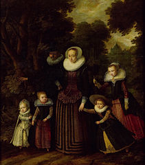 Portrait of a couple and four children
