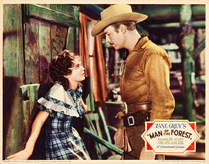 Verna Hillie - Hillie with Randolph Scott in Man of the Forest in 1933.