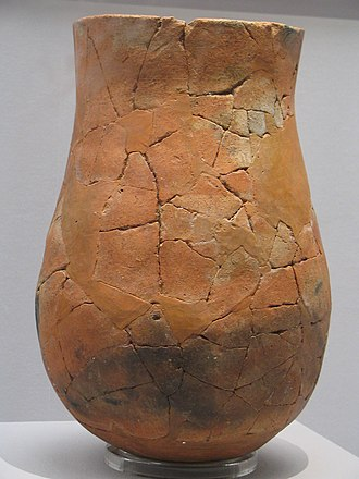 Prehistoric Korea - Globular, high-collared jar with slightly flaring rim