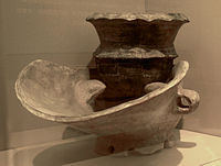 Pottery stove from the Hemudu culture(Neolithic) in Zhejiang Museum.JPG