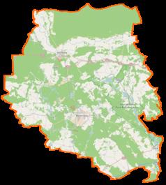 Mapa lokalizacyjna powiatu międzyrzeckiego