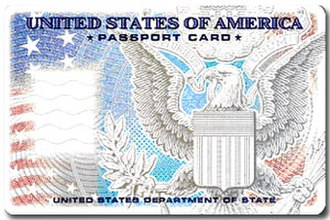 United States Passport Card - Figure 1: Front of Card blank artwork (2008)