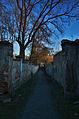 Průchod od zámku k Mlýnskému náhonu a rybníku Kolečko, Tovačov, okres Přerov.jpg