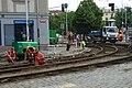 Praha, Holešovice, Ortenovo náměstí, rekonstrukce tramvajové trati.jpg