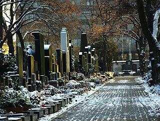 Olšany Cemetery largest graveyard in Prague, Czech Republic