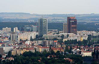 City Tower (Prague) - Image: Praha Pankrac