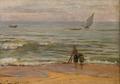 Praia com figuras e barcos (1887) - Marques de Oliveira.png
