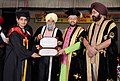 Prakash Javadekar conferring the degrees and medals on students & scholars in various disciplines, at the 44th Annual Convocation ceremony of Guru Nanak Dev University, in Amritsar, Punjab.JPG