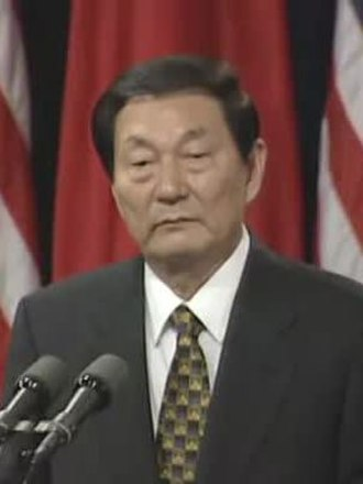 Premier of the People's Republic of China - Image: Prem. Rongji at a Press Conference (1999) (cropped)