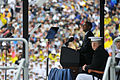 President Barack Obama delivers the commencement address during the U.S. Naval Academy graduation and commissioning ceremony May 24, 2013, at Navy-Marine Corps Memorial Stadium in Annapolis, Md 130524-N-OA833-163.jpg
