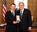 President George W. Bush and Gary Sinise.jpg