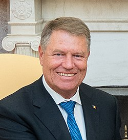 President Trump Meets with the President of Romania (48587210446) (cropped).jpg