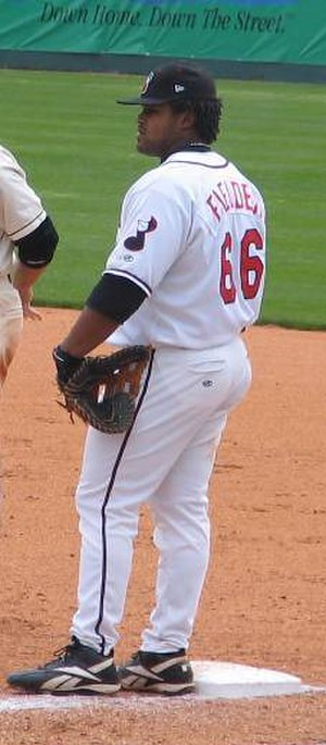Prince Fielder - Fielder playing for the Nashville Sounds, triple-A affiliates of the Brewers, in 2005