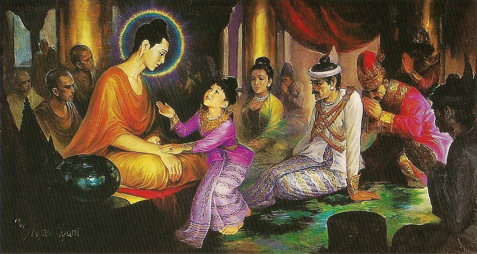 Prince Rahula and Buddha
