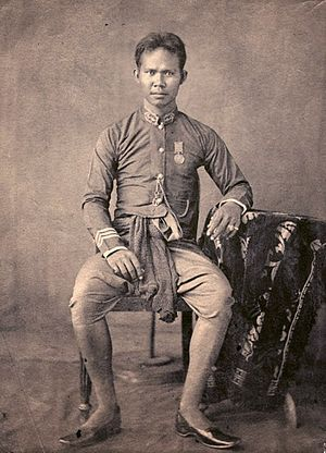 "Wichaichan - Photograph of Prince Yodyingyot, later Bowon Wichaichan. The Prince is usually referred to as ""Prince George Washington"" in foreign accounts, he was appointed Front Palace in 1868."