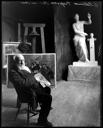 Geskel Saloman - Saloman in his studio. (1901)
