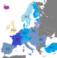 Pronunciation of the name of the letter (u) in European languages.png