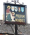 Pulham Market village sign (close-up) - geograph.org.uk - 1594049.jpg