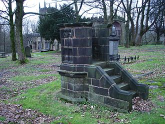 St Mary the Virgin's Church, Deane - Pulpit in churchyard