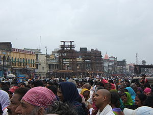 Ratha Yatra (Puri) - Rath/chariots under construction for the Rath Yatra in Puri