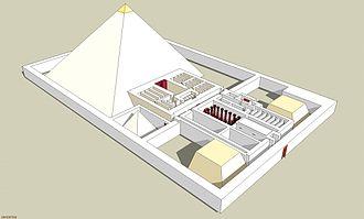 Pyramid of Djedkare Isesi - Image: Pyramide Djedkare elevation