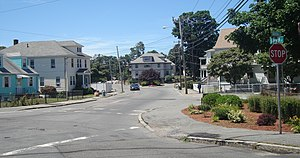 Quincy Point - Sumner Street at South Street in Quincy Point