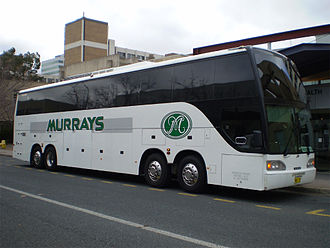 Coach (bus) - Image: Quad axle coach Canberra