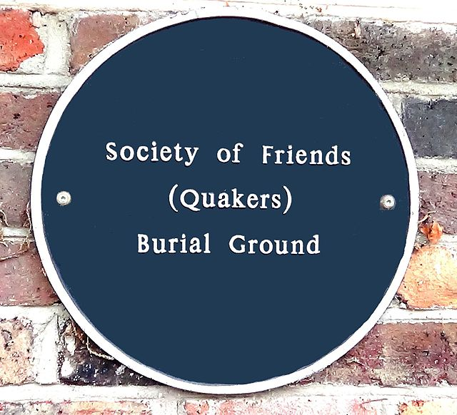 Photo of Society of Friends Burial Ground, Colchester black plaque