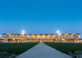 Queen Alia International Airport near Amman was chosen as the best airport in the Middle East for 2014 and 2015 by ASQ. Queen Alia International Airport Terminal.jpg