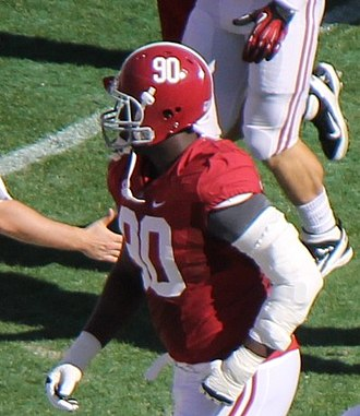 Quinton Dial - Dial playing for Alabama in 2012.