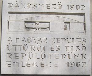 Rákosmező 1909 emléktábla.JPG