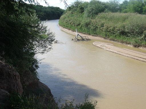 Río Salado del Norte desde el puente de Suncho Corral hacia el Norte