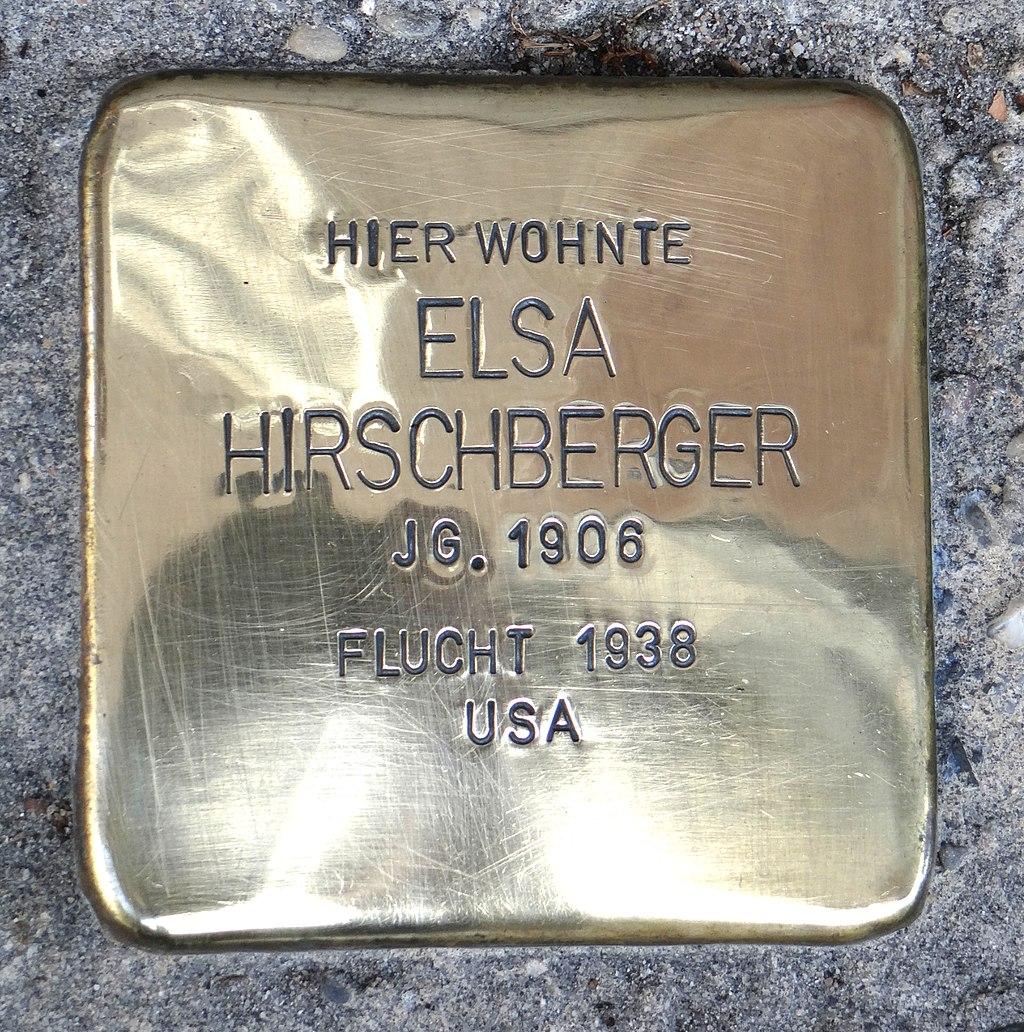 Rüdesheim am Rhein Stolperstein Steingasse 9 Elsa Hirschberger.jpg
