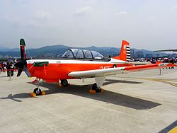 ROCAF T-34C in Songshan Air Force Base 20110813
