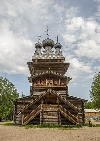 Primorsky District, Arkhangelsk Oblast - The Ascension Church from the village of Kushereka (1854) in the Malye Korely Open Air Museum