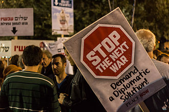 Peace Now - Peace Now at the Rabin memorial rally in Rabin Square, 1 November 2014