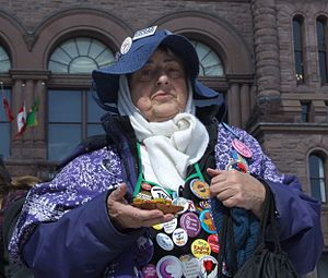 Raging Grannies - A Raging Granny in Toronto.
