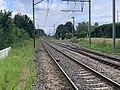 Rails Ligne Mâcon Ambérieu près Passage Niveau 4 St Jean Veyle 2.jpg